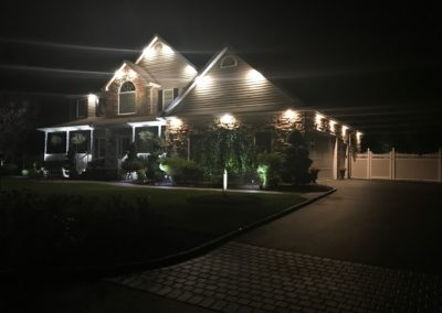 Soffit Lighting at Night