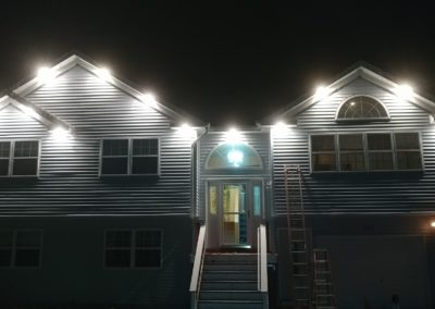 nightview of soffit lighting electric